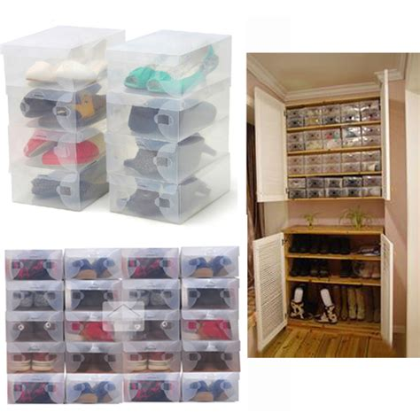 shoe storage stackable 10x clear shoe storage box plastic stackable shoe
