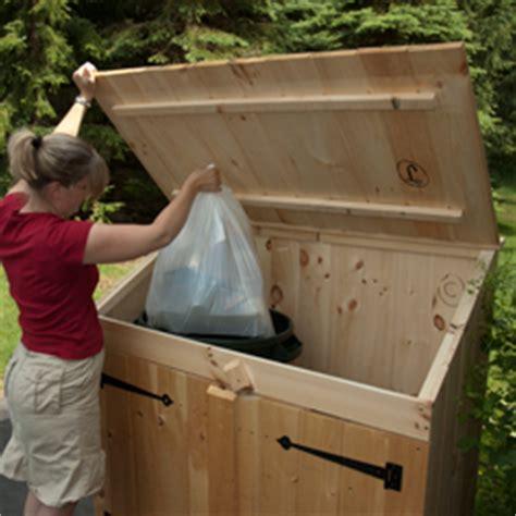 wood garbage shed plans plans diy