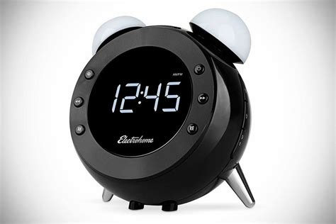 you snooze the retro alarm clock radio s alarm by waving it mikeshouts