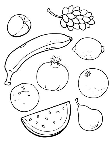 Fruits Coloring Pages Pdf printable fruit coloring page free pdf at http