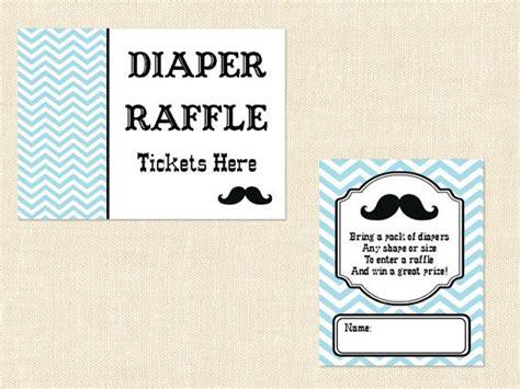free printable diaper raffle tickets mustache mustache diaper raffle ticket baby shower by