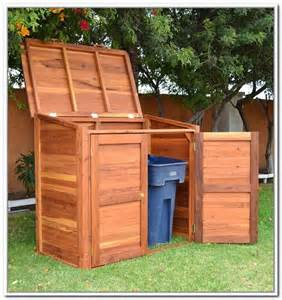 garbage can storage shed home design ideas