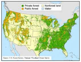 america forest map federal grant will help inform family forest owners about