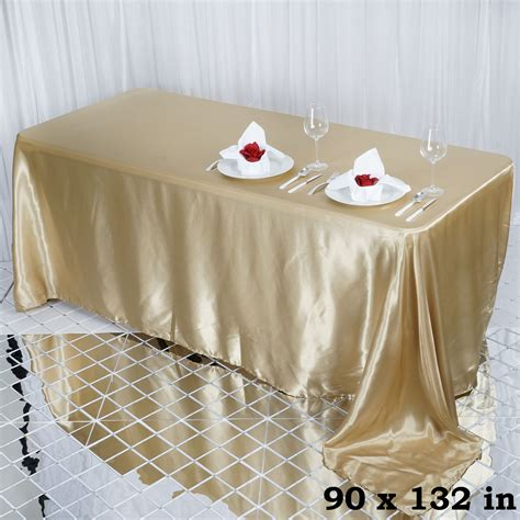 rectangular satin tablecloth dinner wedding linens decorations wholesale ebay