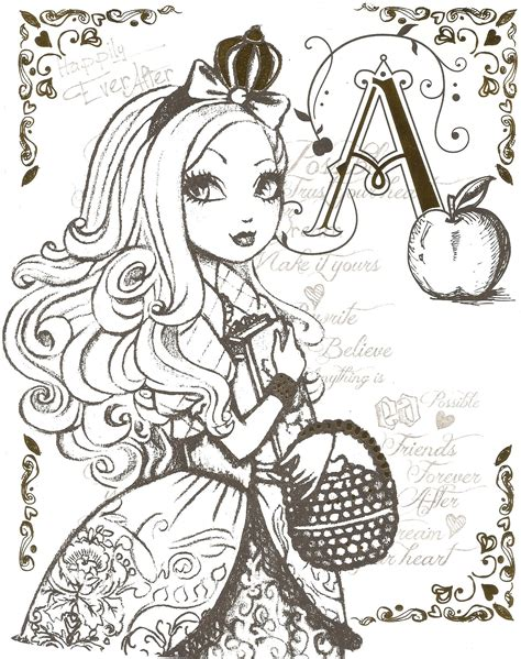 coloring page ever after high free coloring pages of apple ever after high