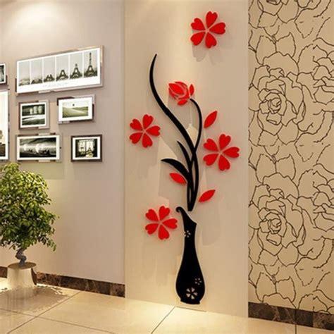 cr馥r chambre 3d 3d plum vase stickers muraux maison decoration creative