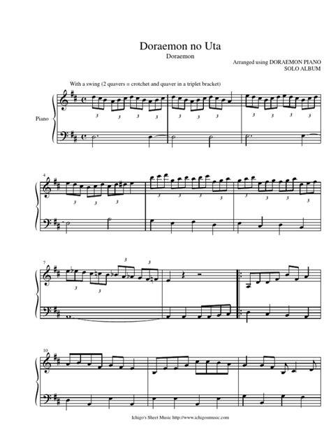 theme song doraemon doraemon sheet music