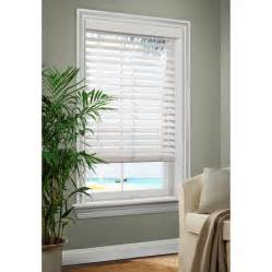 Horizontal Wooden Blinds Shop Allen Roth 2 5 In White Faux Wood Room Darkening
