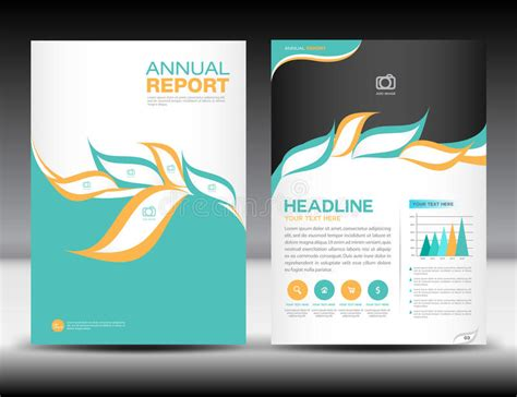 financial report card template orange green annual report template cover design brochure