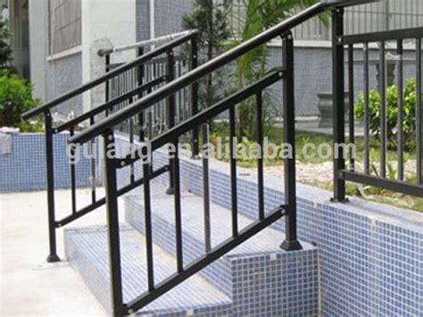Metal Exterior Handrails For Stairs outdoor metal stair railing or removable aluminum steel handrail metal exterior handrails for