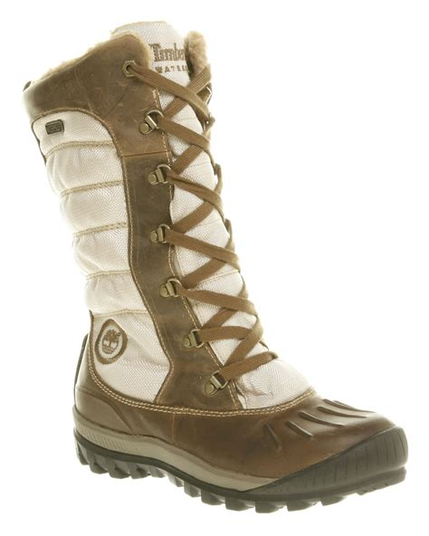 timberland mount holly duck boot  brown lyst