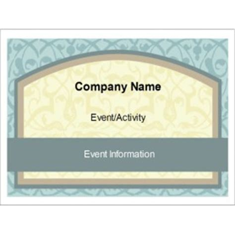 convention name card inserts template templates vintage box name badge insert 6 per sheet avery