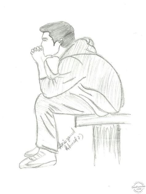 Pencil Drawings Of Lonely Boy Google Search Drawing Ideas Pinterest Boys Pencil And Drawing For Boys