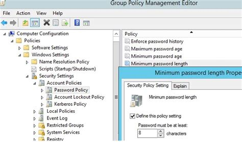 managing domain password policy   active directory