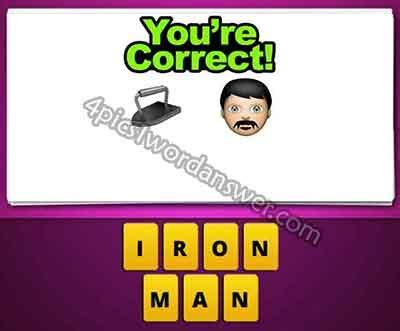 guess emoji iron mustache man pics word