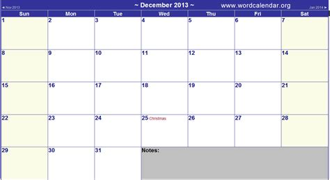 printable december calendar 2012 with holidays 7 best images of large printable calendar december 2013
