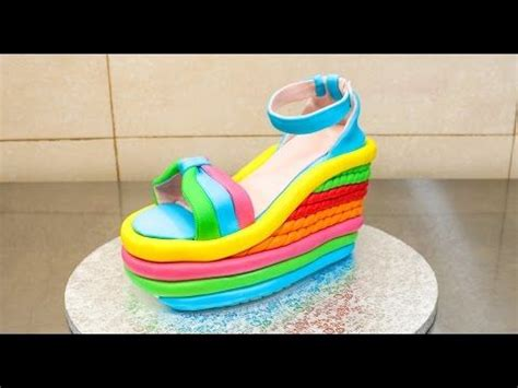 Wedges Spons Cakep cakes buttercream ruffles and heels on