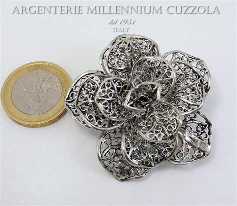 bomboniera fiore bomboniere fiore argento spilla filigrana comunione