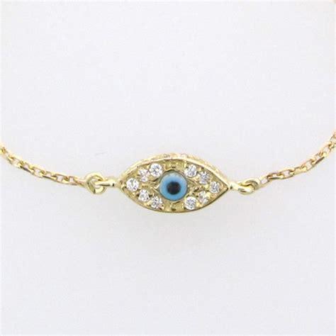 Evil Eye Bracelet 14K Solid GOLD Kelly Ripa Celebrity
