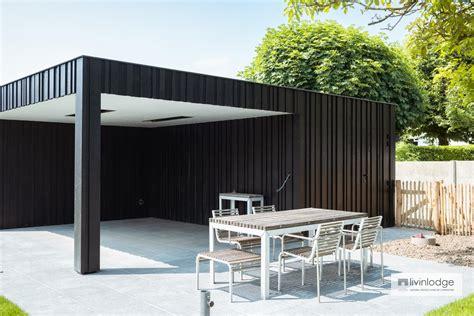 modern carport  wooden shutters aalter livinlodge