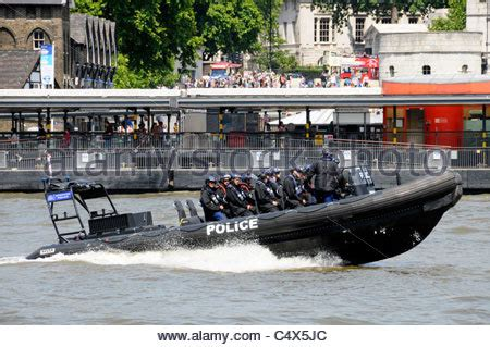 river thames inflatable boat metropolitan police boats on river thames wapping london