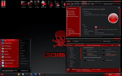 pc all themes free download poison complete windows 7 theme free download by