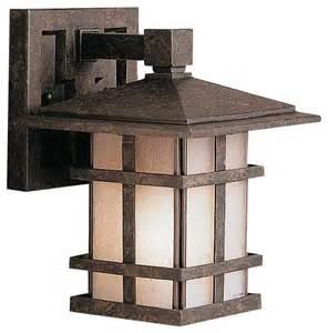 craftsman style outdoor lighting fixtures kichler cross creek outdoor wall mount light fixture in