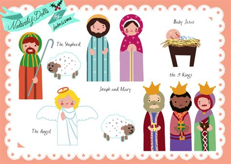 printable christmas paper dolls free paper doll nativity printables print on magnetic