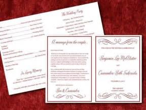 half fold wedding program template 9 best images of half fold wedding program template