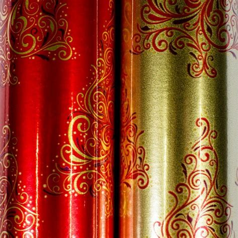 buy foil christmas wrap traditional red online at qd