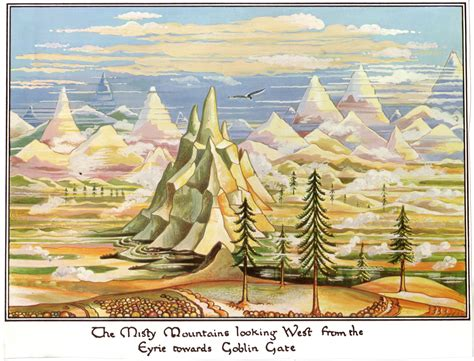 the lord of the rings j r r tolkien art the hobbit the misty mountains art inspiration