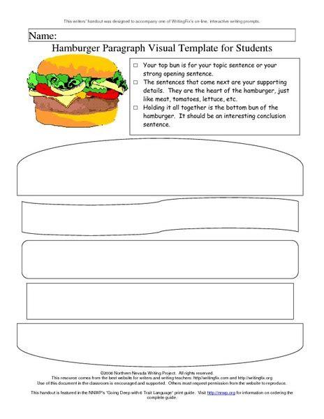 worksheets hamburger paragraph worksheet chicochino