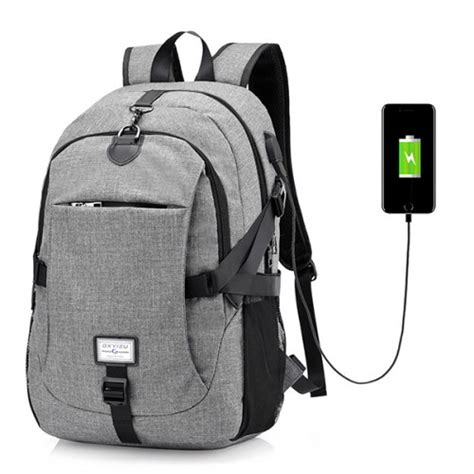 Backpack Laptop Bag Travel With Usb Port D8205w 17 3 Inch Olb1868 large capacity laptop backpack travel bag with usb charging port alex nld