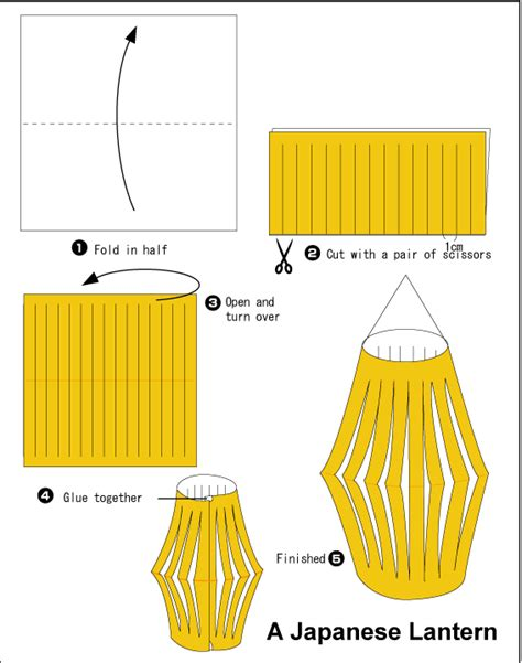 How To Make A Japanese Lantern With Paper - origami s ornament japanese lantern tanabata
