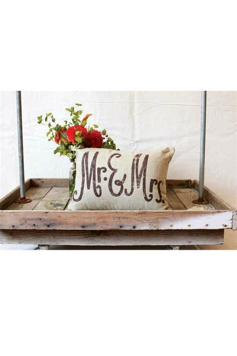 creative co op home decor creative co op mr mrs pillow from texas by simply