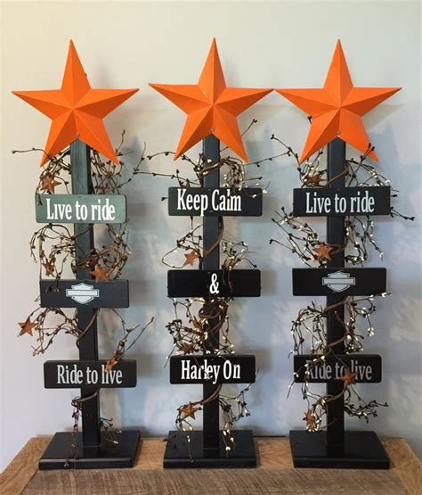 harley davidson home decor harley davidson welcome star tree home decor by bucksbarnworks