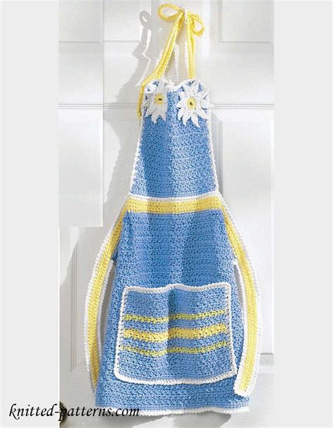 pattern for knitted apron apron crochet pattern