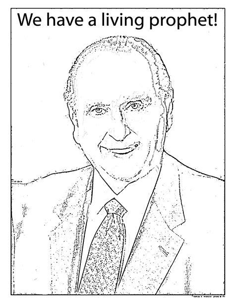 mormon share president monson coloring sheet lds primary