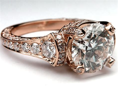 rose gold rose gold ring rose gold ring pave diamonds