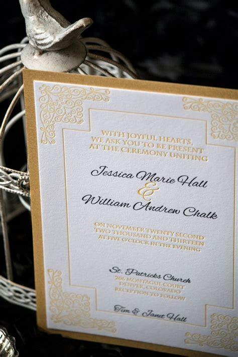 renaissance scroll wedding invitations letterpress italian renaissance letterpress wedding