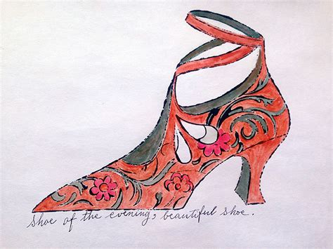 Of The Shoes shoe of the evening beautiful shoe by andy warhol