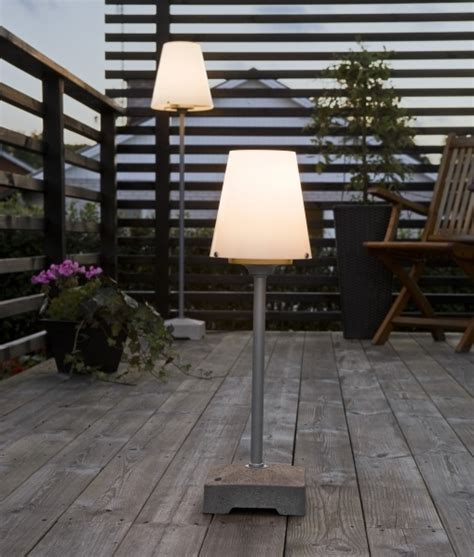 Exterior Floor & Table Lamps with Opal Shade