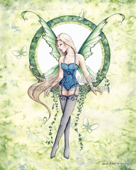 zyla pixie spring artists fairy art ivy spring female fantasy print butterfly painting