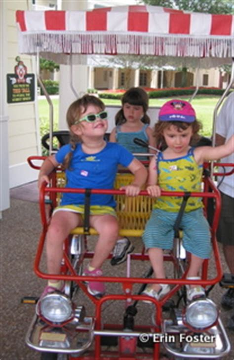 how can a child sit in the front seat surrey bike rentals at disney world touringplans