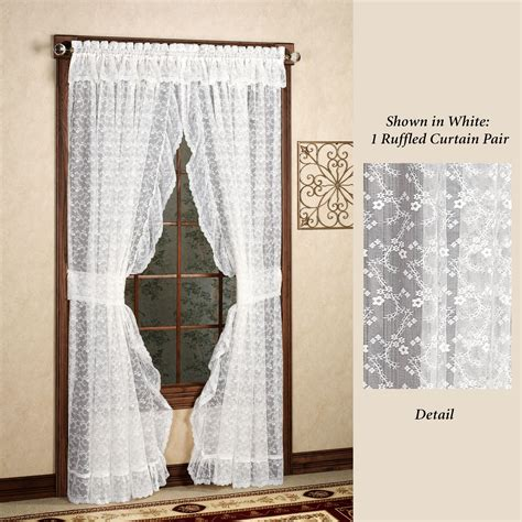 ruffled drapes bridal lace ruffled curtains