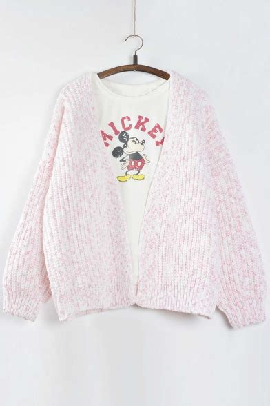 Batwing Sleeve Open Front Cardigan fashion batwing sleeve v neck open front cardigan