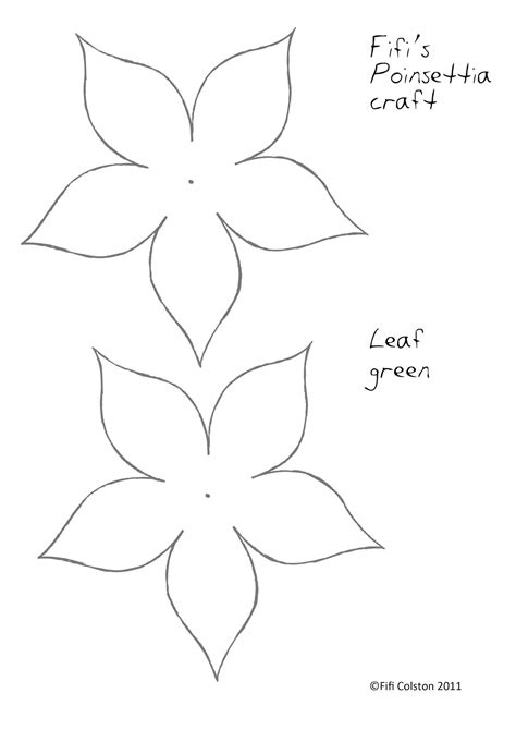 pattern for poinsettia leaf fifi colston creative pretty paper poinsettias