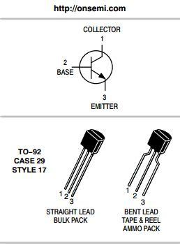 datasheet  npn amplifier transistors onsemi