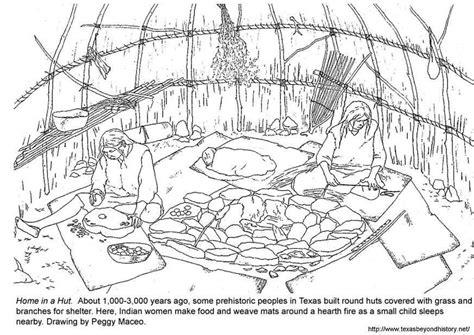 coloriage hutte img 3974 - Hutte Préhistoire