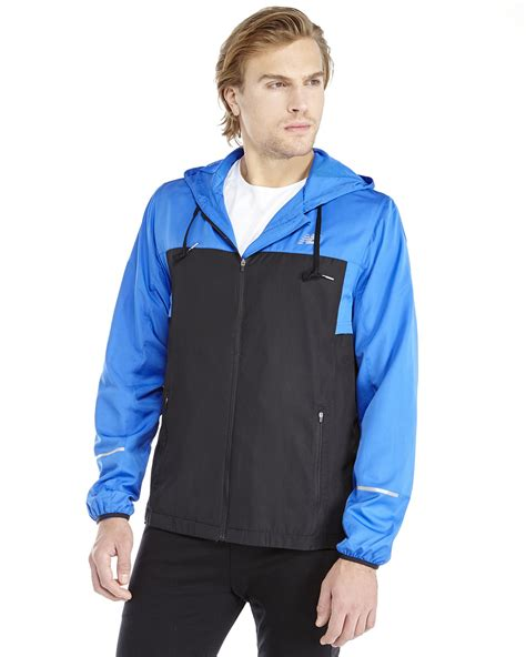 Hoodie Zipper New Balance Jaket Sweater Keren new balance hooded windbreaker jacket in blue for lyst